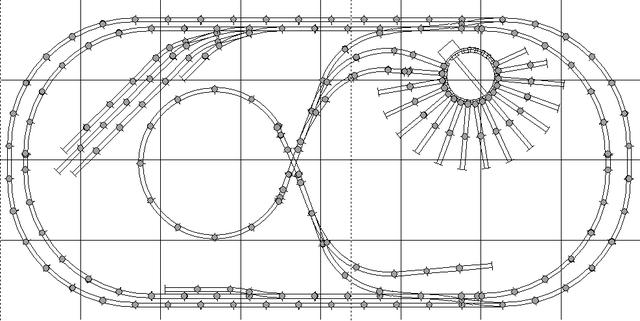 4x8 ho model railroad trackplan