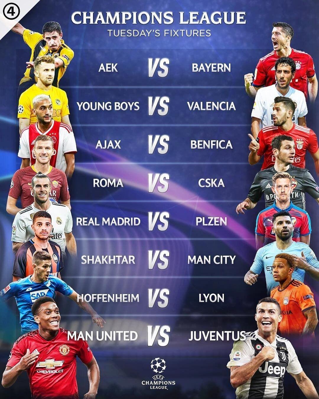 bbc sport football uefa champions league fixtures
