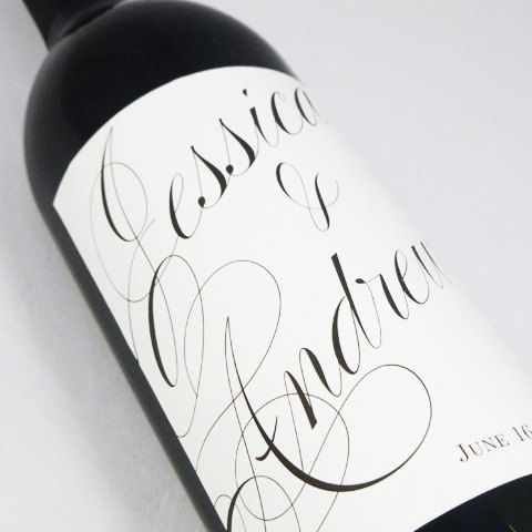 Custom Wedding Wine Labels Personalized By Nancy Nikko Design