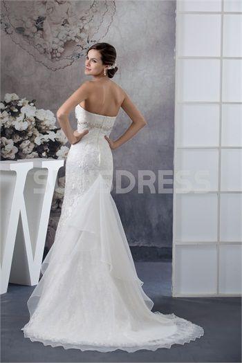 Wonderful Empire Lace Mermaid Sweetheart Beach Garden Wedding Dress