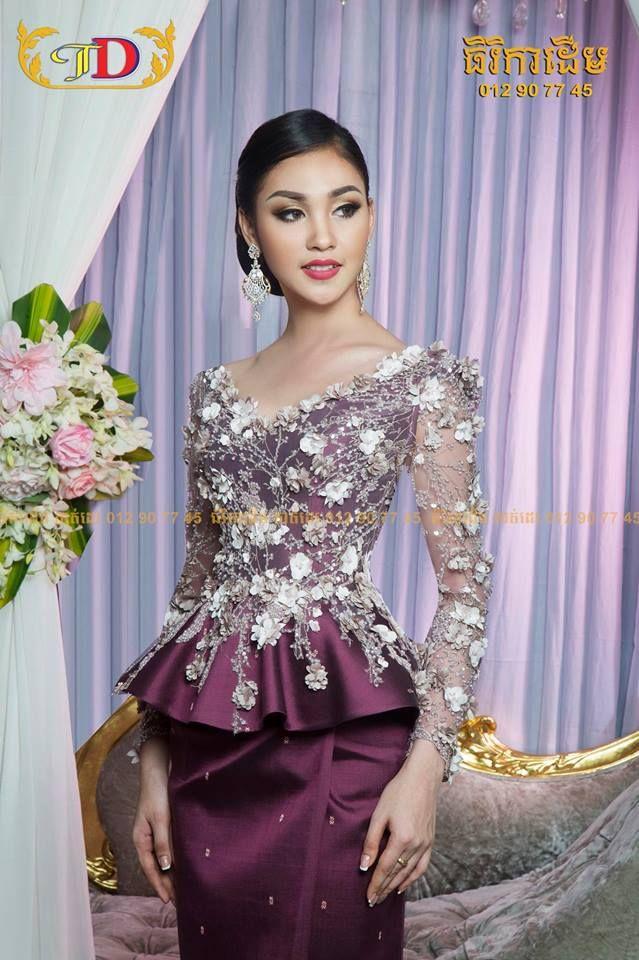 90481d39ed61b khmer traditional dress Robes Du Soir En Dentelle
