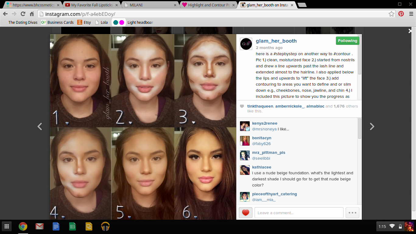 How to properly contour your face via IG makeup user @glam_her_booth