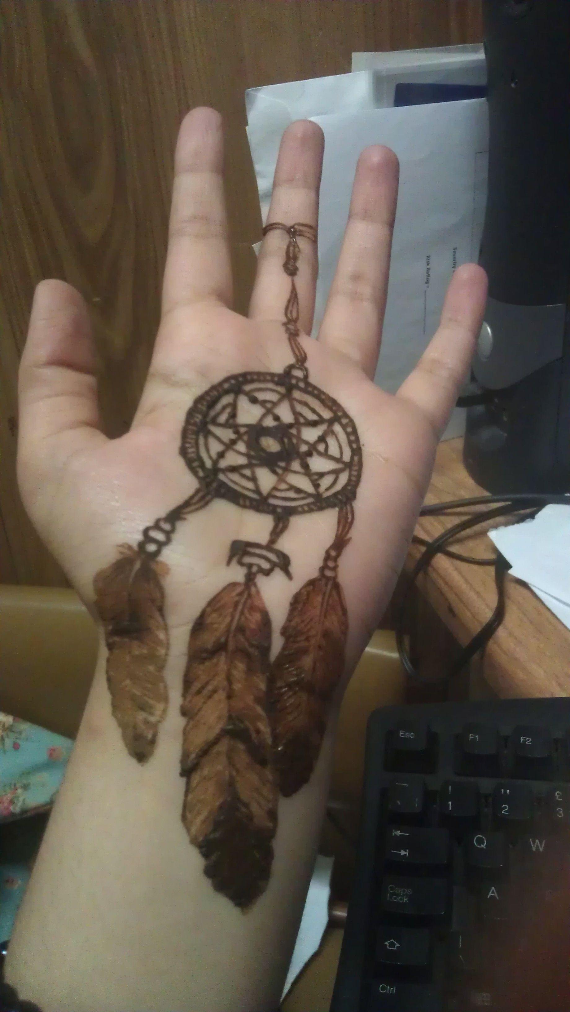 Dreamcatcher henna tattoo.