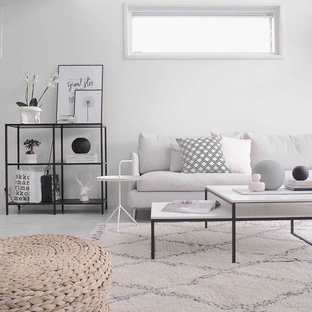 Minimal Living Room Inspiration: Nordic Minimalist Living Room With Space Metal Furniture