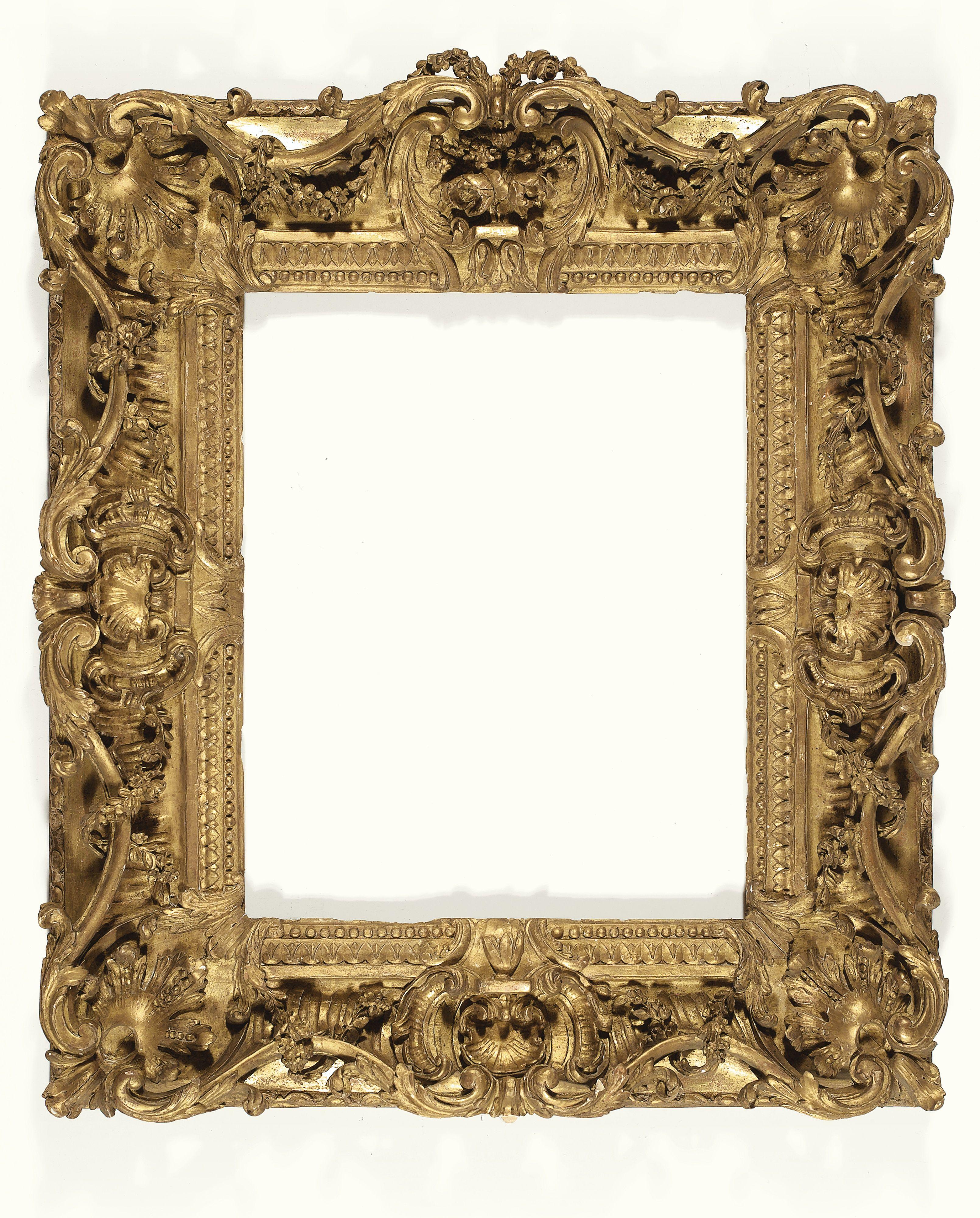 909870a378f Cadre en bois sculpté et doré d époque Louis XV Sotheby s Gold Picture  Frames