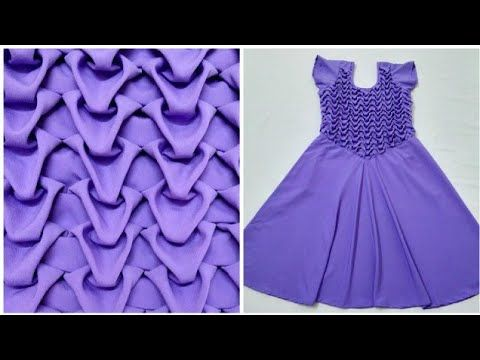 b73944738 Smocking Frock making cutting stitching umbrell at home in hindi dress  design long gown type stylish - YouTube