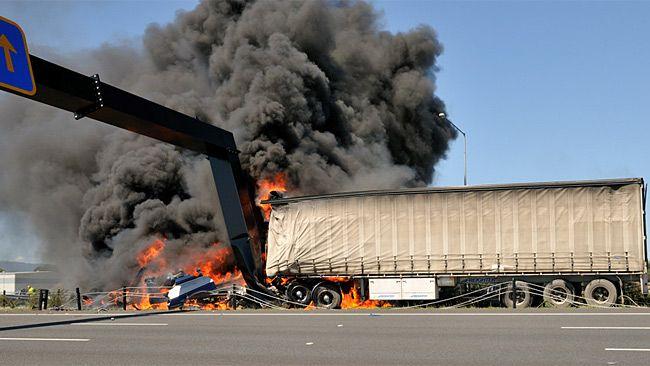 Fiery Crash Shuts Eastlink Trucks