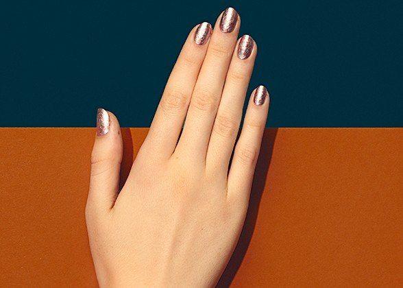 Paintbox Nail Art Idea: Lucky Magazine  mixed metals    #nails #california #conceptcandieinteriors #style