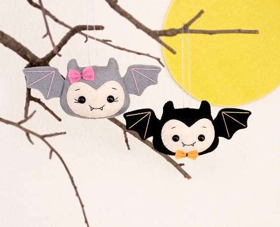 halloween decoraciones bat juguetes fieltro set de regalo de