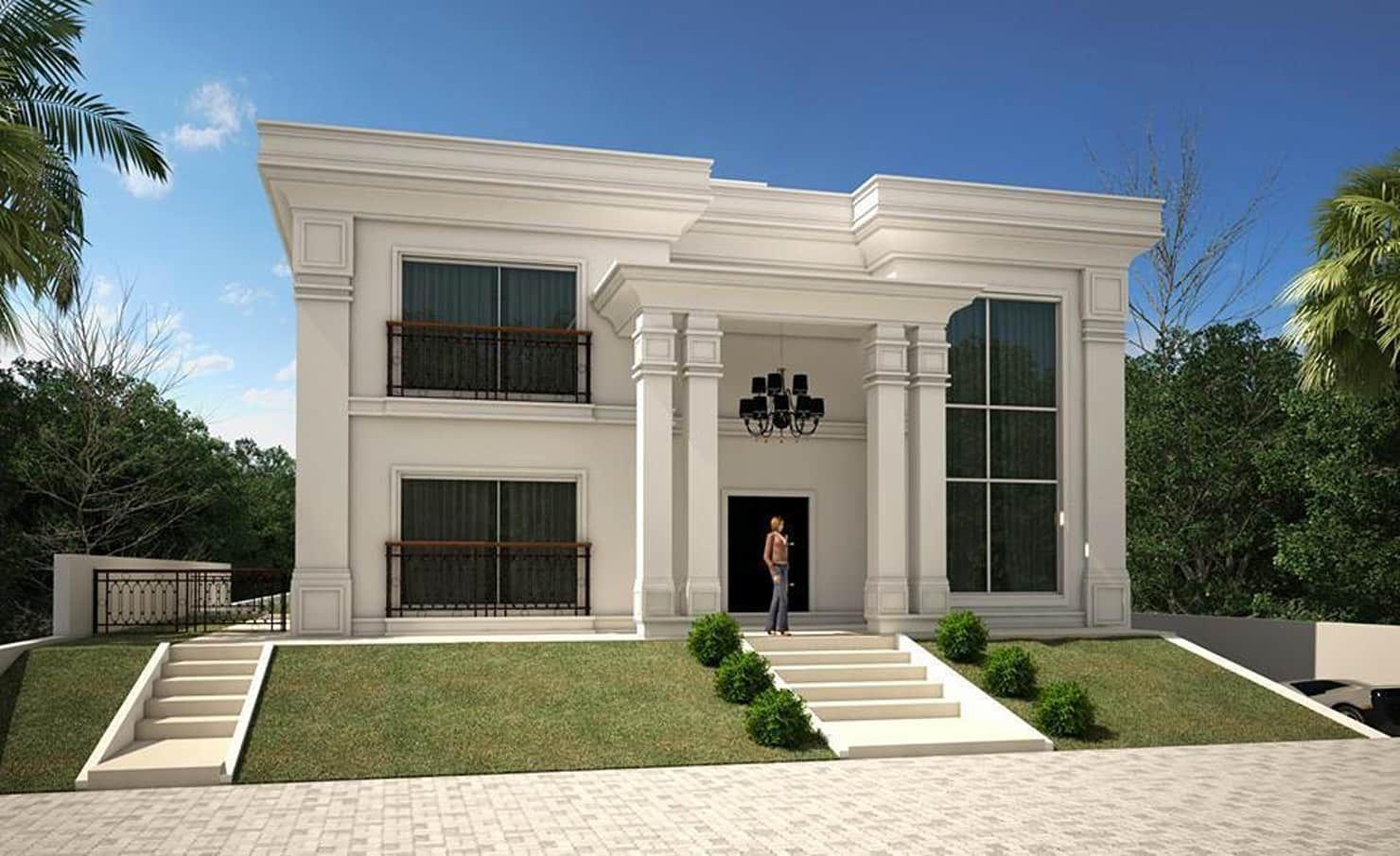Casa neoclassica moderna casas por tra o final for Foto casa classica