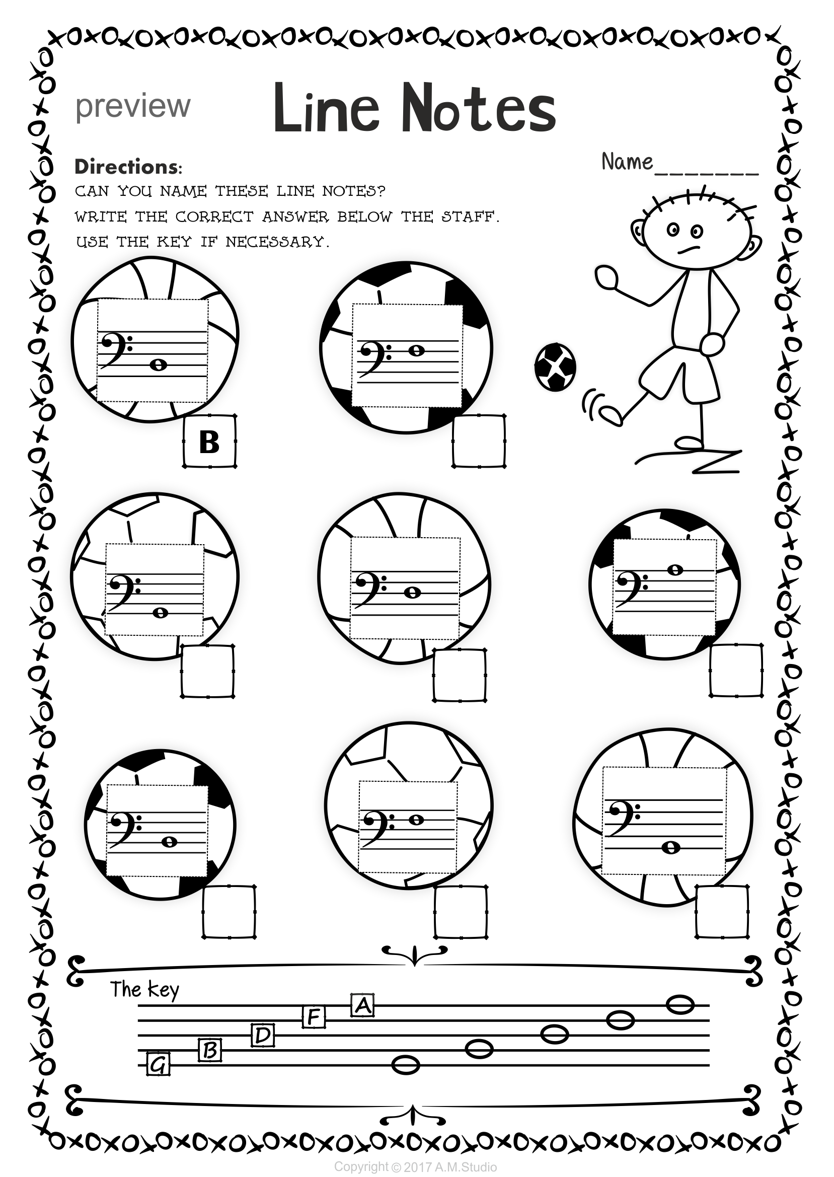 Back To School Bass Clef Note Naming Worksheets Clef Worksheets