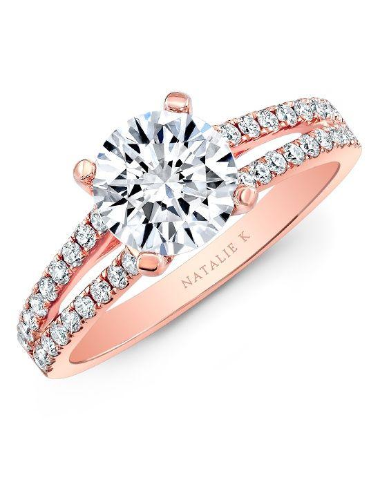 Rose gold with split shank engagement ring   Natalie K   http://trib.al/vCDLFWW