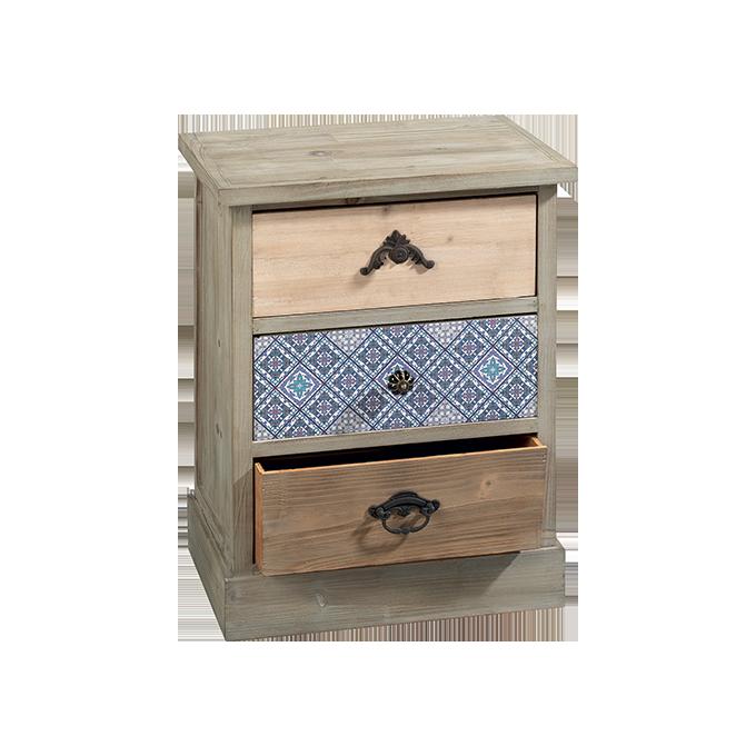 Mobiletto O1339 mobiletto in legno con 3 cassetti; il cassetto ...
