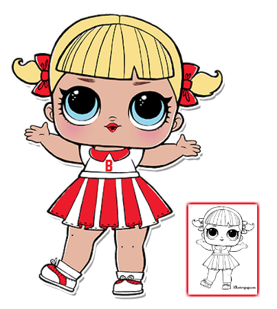 Lol Surprise Doll Coloring Pages Page 7 Color Your Favorite Lol Surprise Doll Lol Dolls Coloring For Kids Dolls