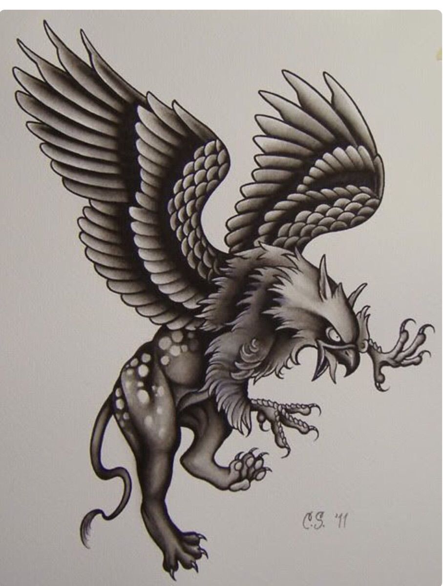 Tattoo Griffins: meaning. Mystical tattoos are back in fashion