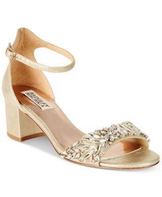 a746e1e223a4 BADGLEY MISCHKA Badgley Mischka Tamara Block-Heel Evening Sandals.   badgleymischka  shoes   all women