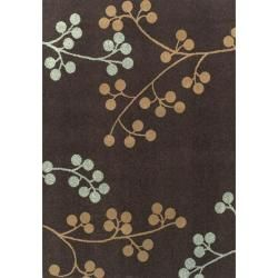 """Not fully decided on this rug...but something along these lines. """"Alexa Abbey Spring Season Brown Floral Rug 6'6 x 9'7"""""""