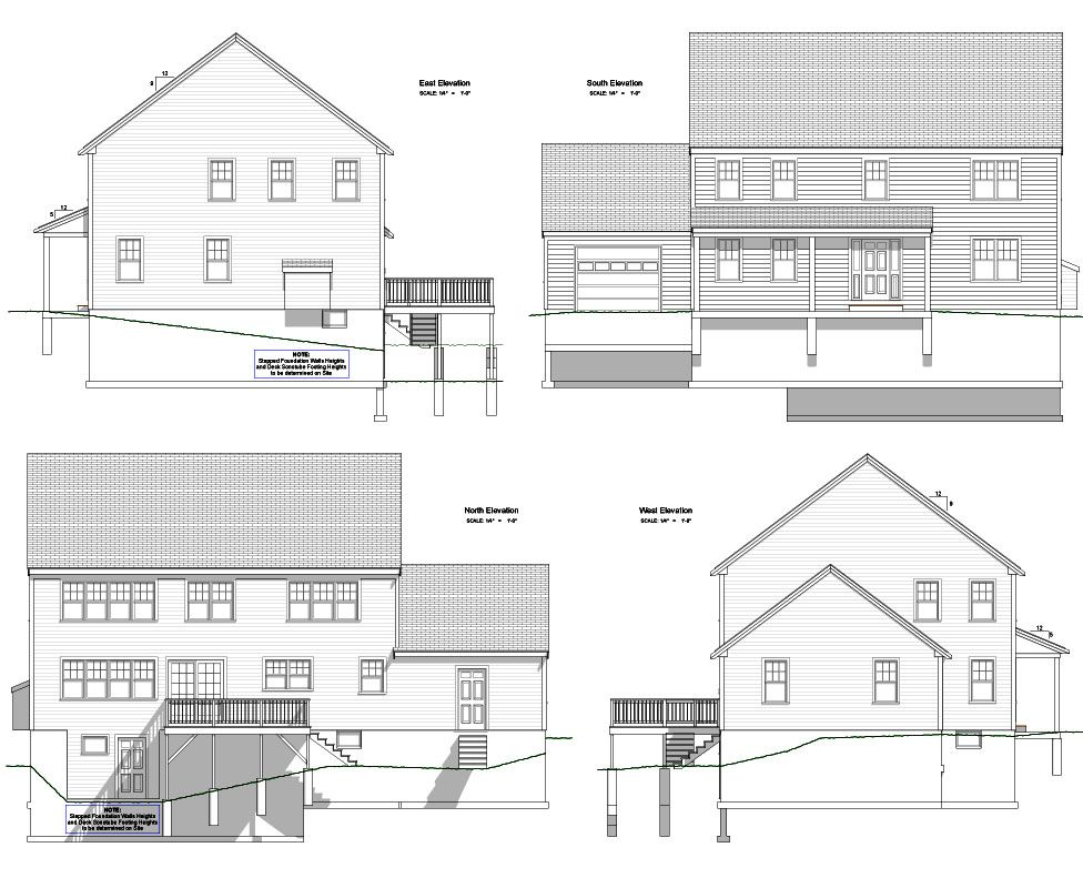 Family Vacation Homes, North Conway, NH Blueprints of the