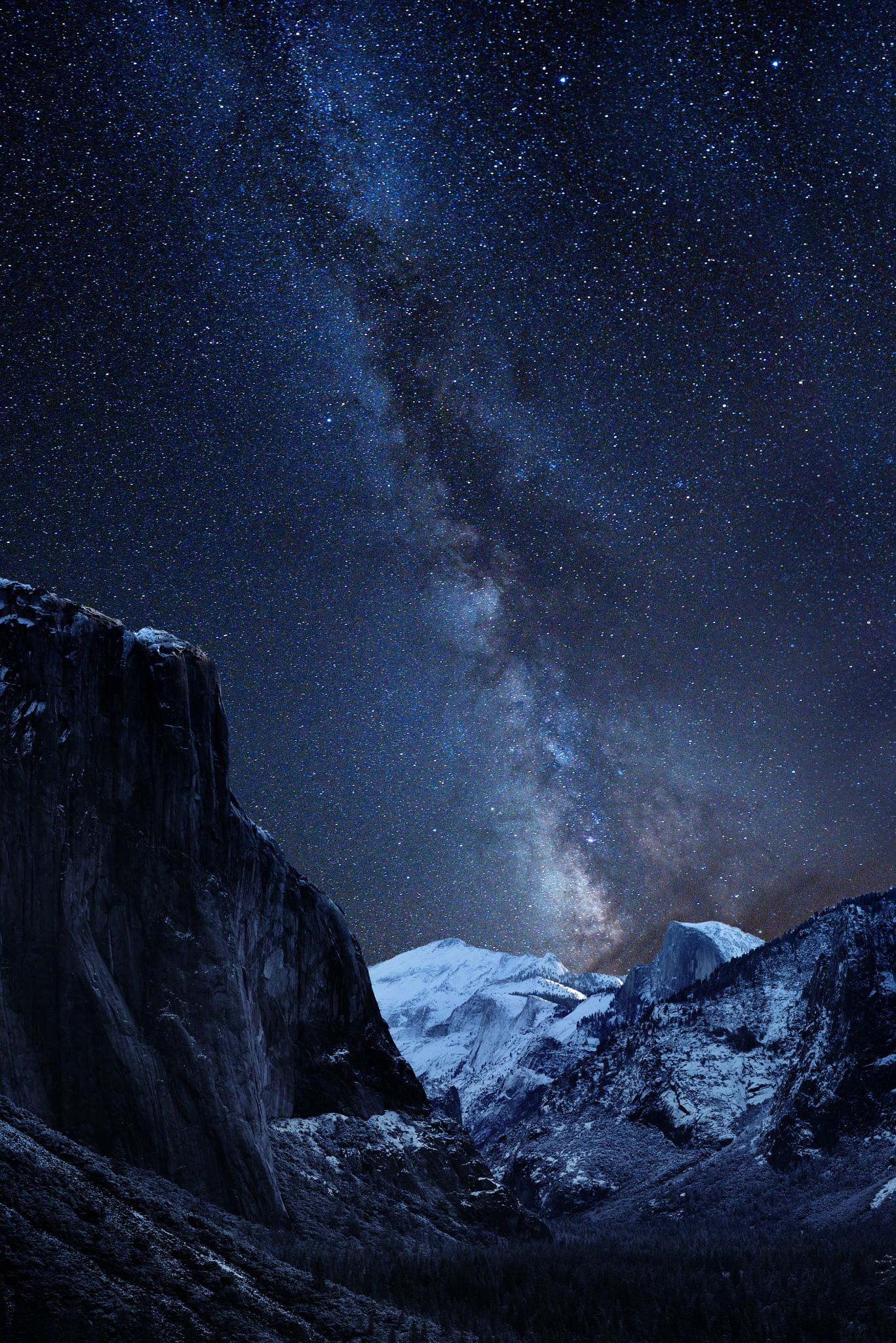 Half Dome Yosemite Valley California And Milky Way Riddhisinghal6 Beautiful Night Sky Landscape Photography Nature