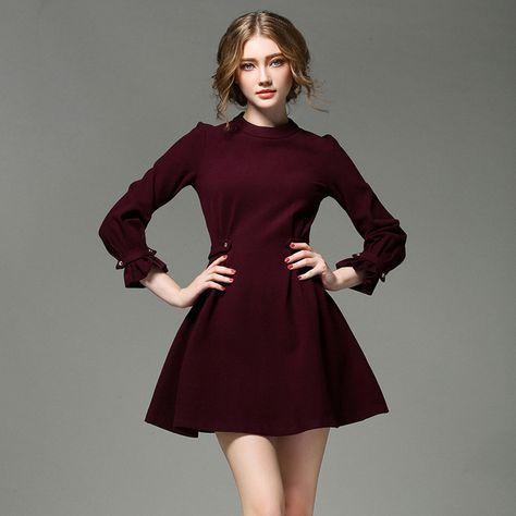 fa3719e93 Resultado de imagen para vestidos color vino cortos juveniles ...
