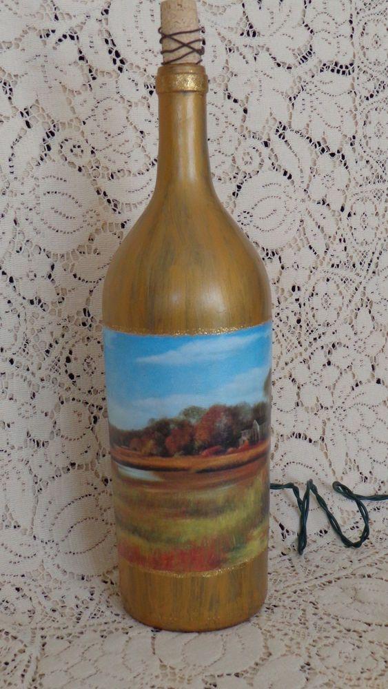 1.5 Lt  Wine Bottle Lamp #StoneCellars