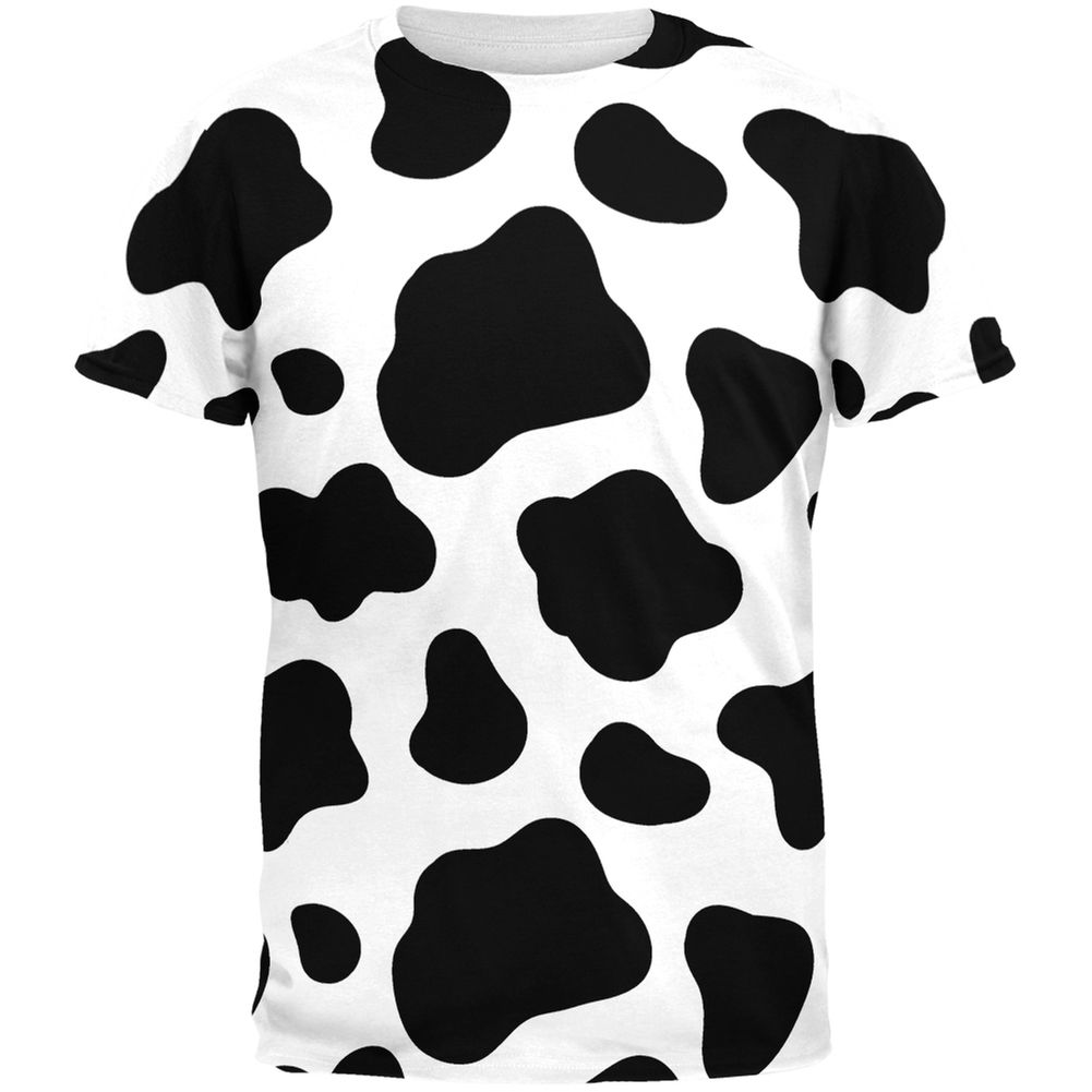 Cow Pattern Costume All Over Adult T-Shirt | AnimalWorld.com