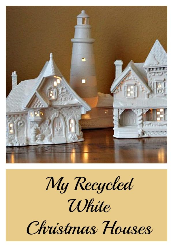 Use spray paint to update old Christmas villages.   Diy ...