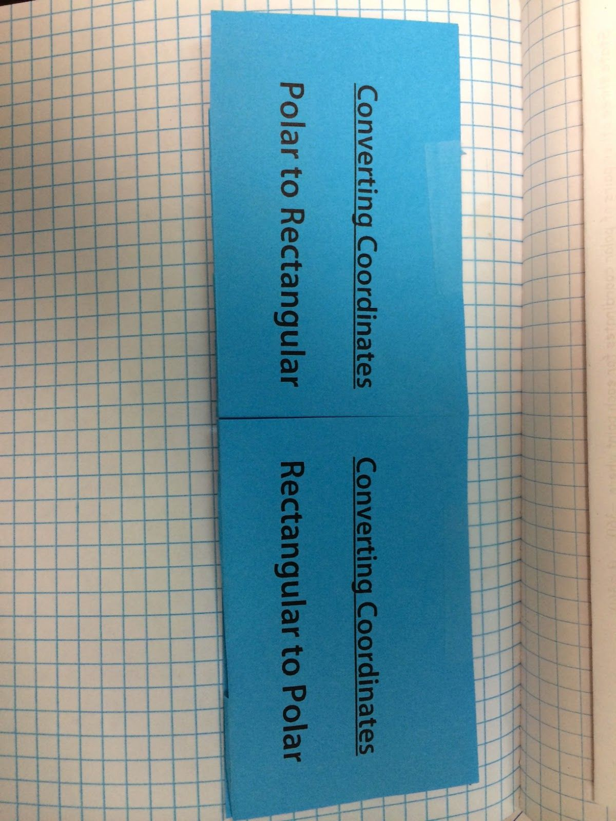 Converting Polar Coordinates And Polar Graphing Foldables