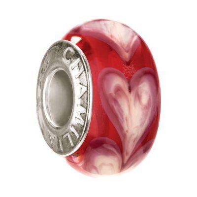 Chamilia Sterling Silver Murano Heart Bead
