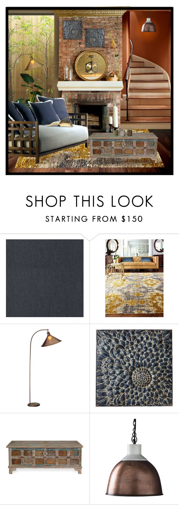 """""""Natural Retreat"""" by fortheloveofvintage ❤ liked on Polyvore featuring interior, interiors, interior design, home, home decor, interior decorating, ARTE, Cal Lighting, Dot & Bo and NKUKU"""