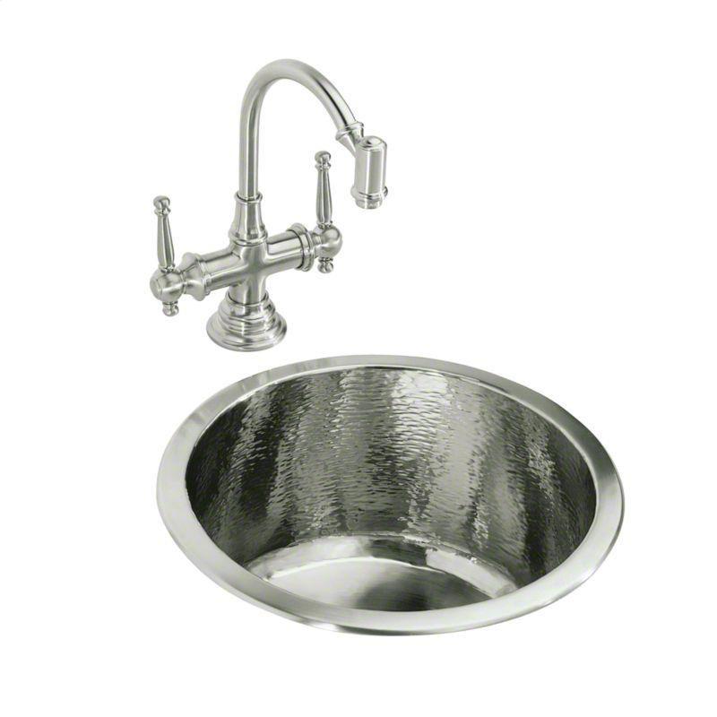 Kallista | Brushed Nickel Monte Carlo II Round Bar Sink | Available ...