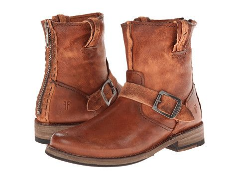 Frye Vicky Artisan Back Zip Dark Brown Tumbled Full Grain - Zappos.com Free  Shipping