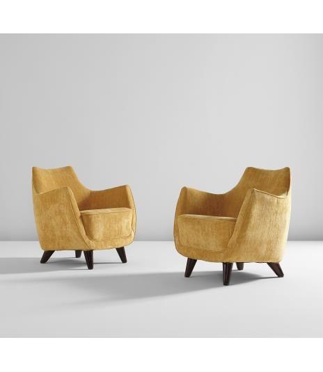 firstclass modern armchair. GIO PONTI Pair of armchairs  from the First Class Ballroom Augustus transatlantic ocean