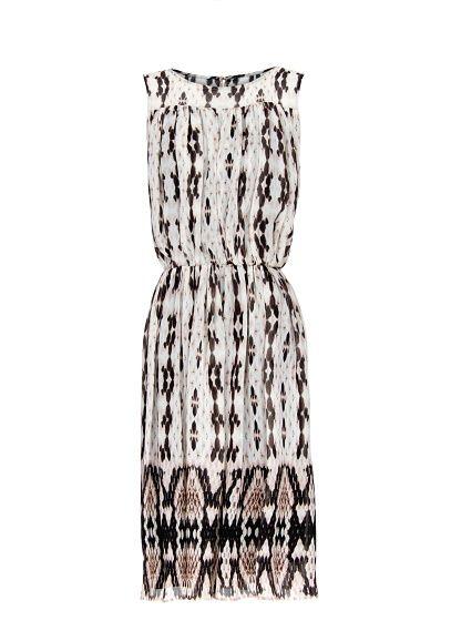 MANGO - Vestido estampado pinças