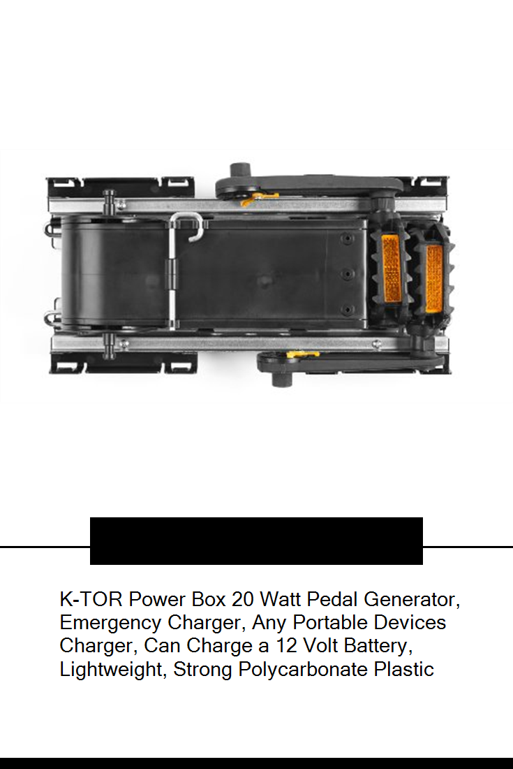 K Tor Power Box 20 Watt Pedal Generator Emergency Charger Any Portable Devices Charger Can Charge A 12 Volt Battery Light Charger Wall Outlets