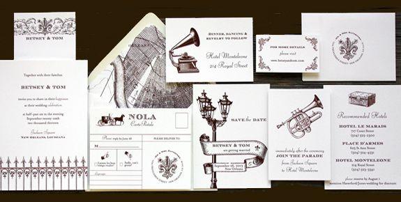 Exceptionnel Wedding Invitation, New Orleans Love Letter Wedding Collection, New Orleans  Destination Wedding Theme | Weddings, Wedding And Unique Invitations