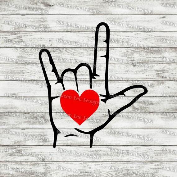 Download I Love You - Sign Language - Valentine's Day SVG File   I ...