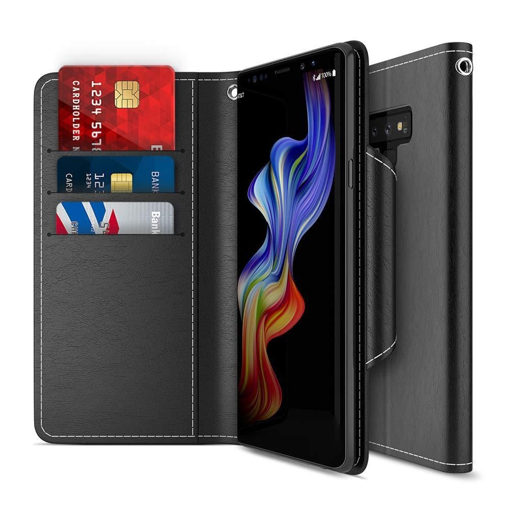 Galaxy note 9 wallet case protective pu leather flip cover
