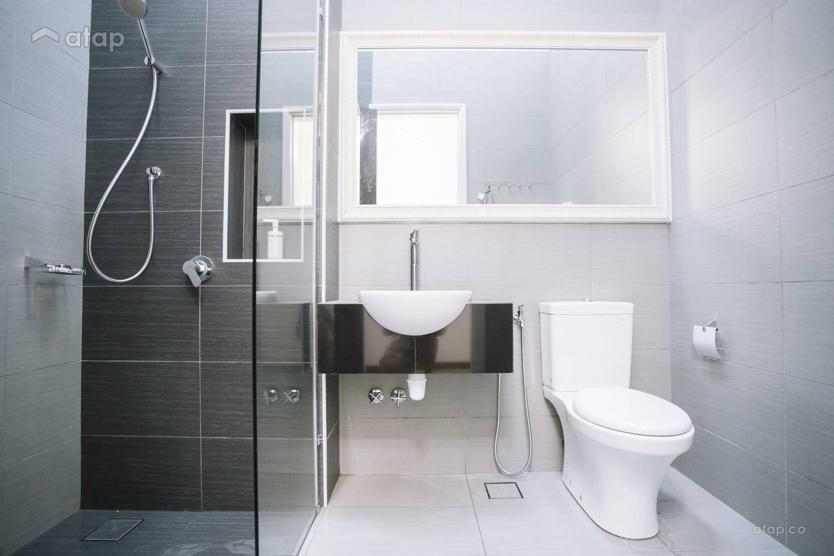 Contemporary Modern Bathroom Semi Detached Design Ideas Photos Malaysia Atap Co Narrow Bathroom Designs Bathroom Counter Designs Modern Bathroom Vanity