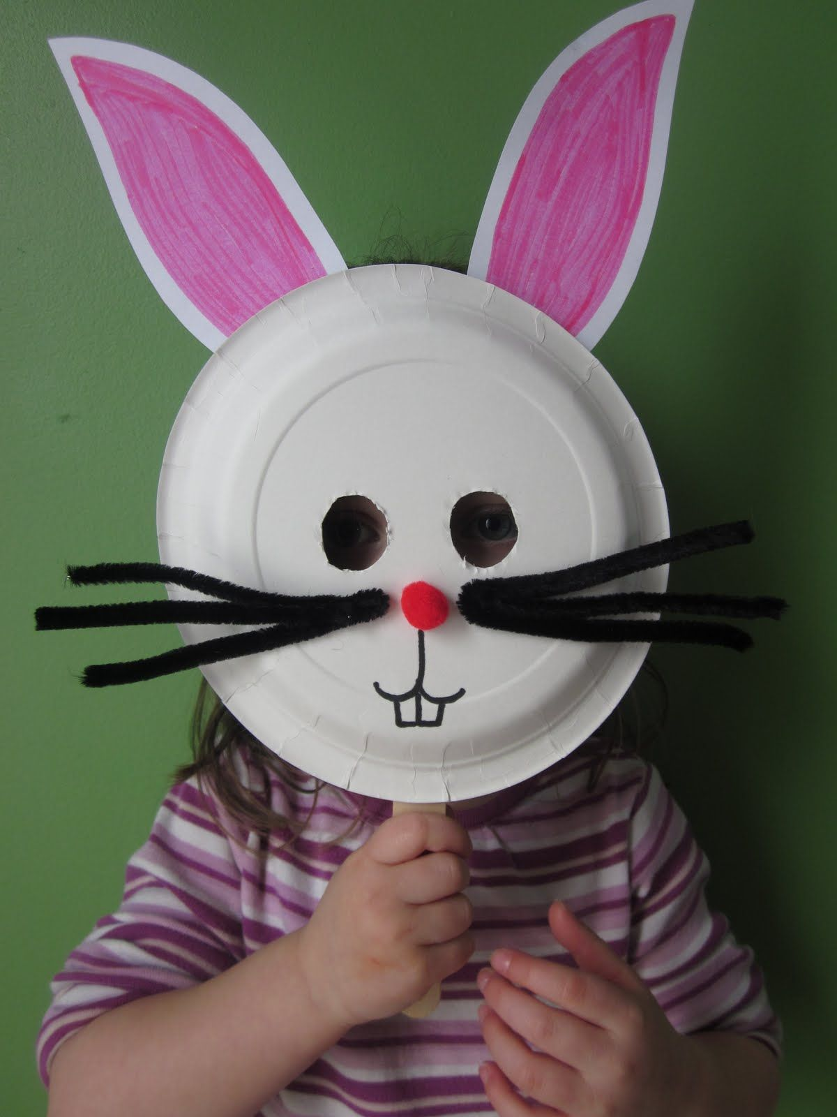20 do it yourself easter crafts for kids bunny mask easter and 20 do it yourself easter crafts for kids solutioingenieria Image collections