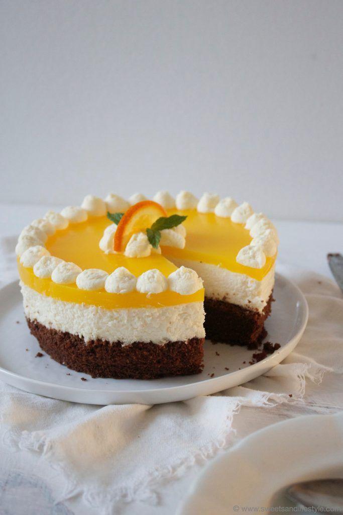 Rezept fuer eine herrlich erfrischende Schoko Topfen Orangen Torte von Sweets and Lifestyle