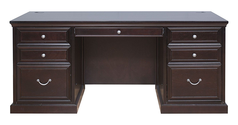Kathy Ireland Home By Martin Fulton 68 Double Pedestal Executive Desk
