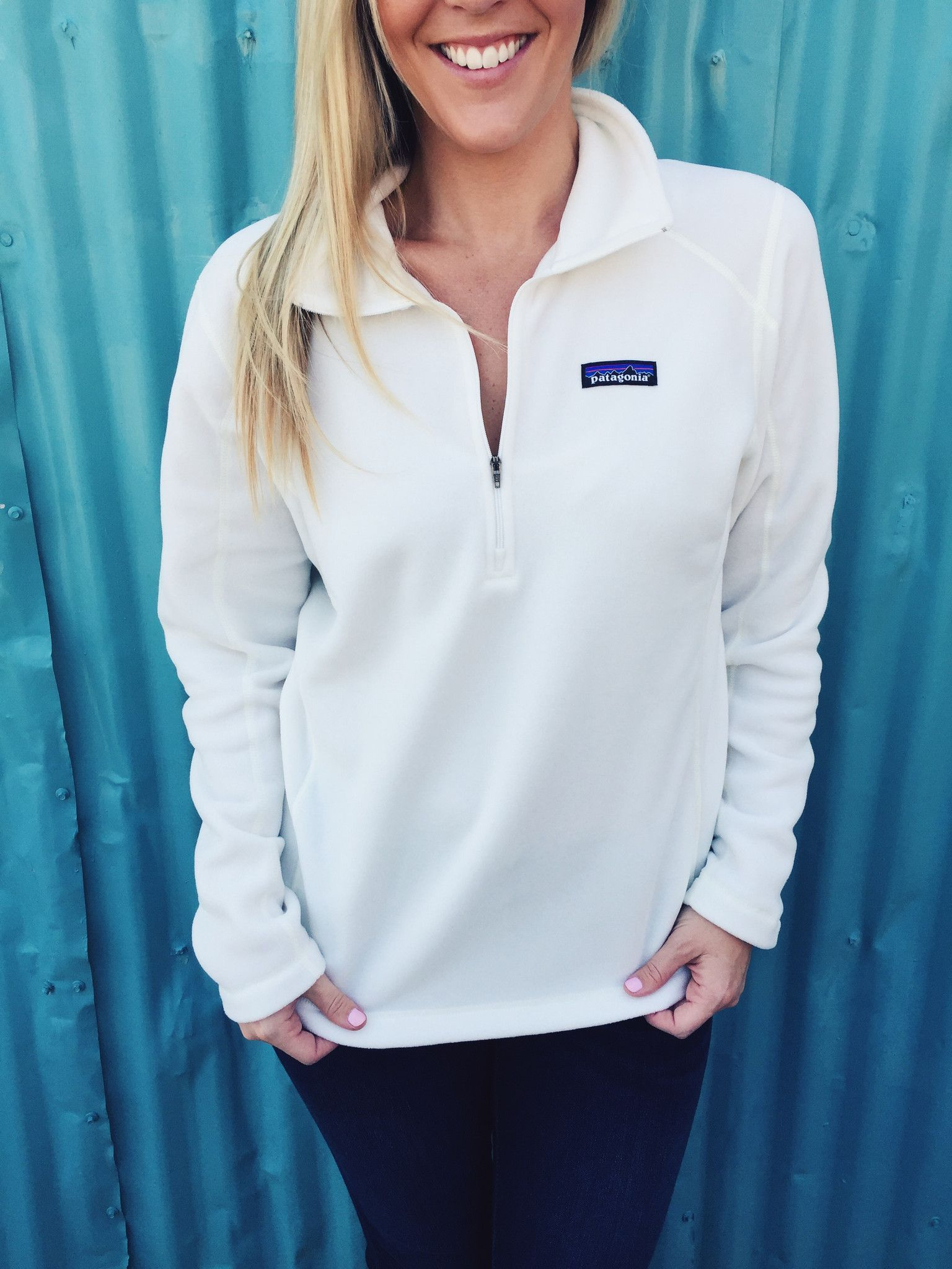 Patagonia Women's Micro D Quarter Zip Fleece- Birch White ...