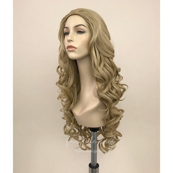 Aurora Base Wig Beige Blonde Futura Fiber ($80) ❤ liked on Polyvore featuring beauty products, haircare, hair styling tools, bath & beauty, grey, hair care and wigs