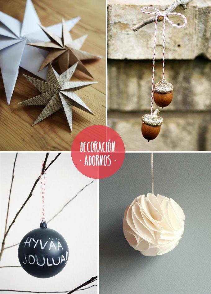 diy adornos rbol merry christmas ideas Pinterest Diy adornos