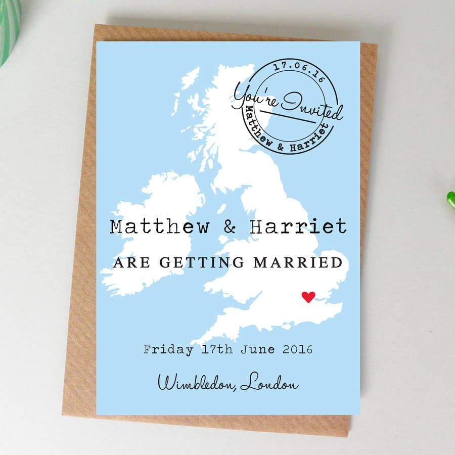 Location Map Wedding Invitation