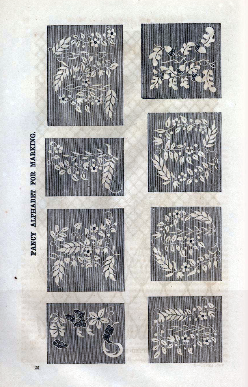 Fancy letters for embellishment, July 1863 (I think Godey's)