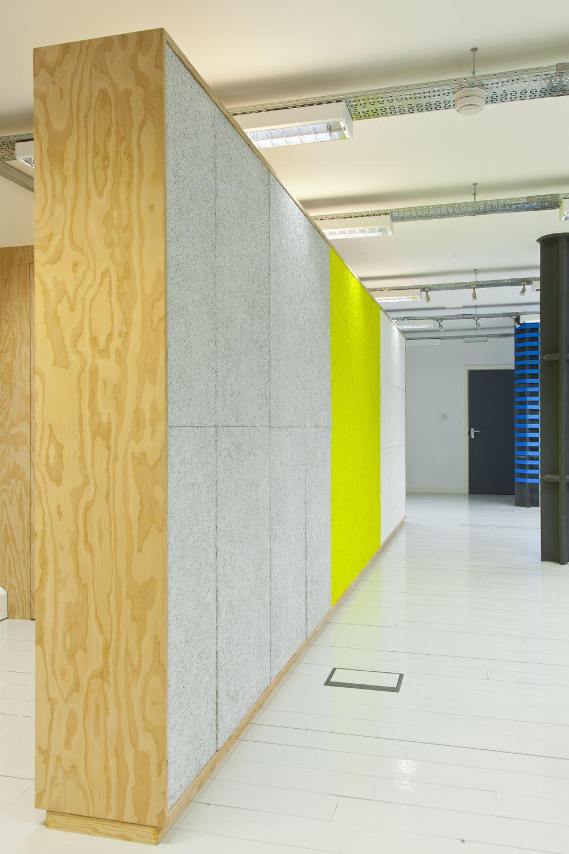 Acoustic wall. Douglas fir and wood wool panels. … | Pinteres…
