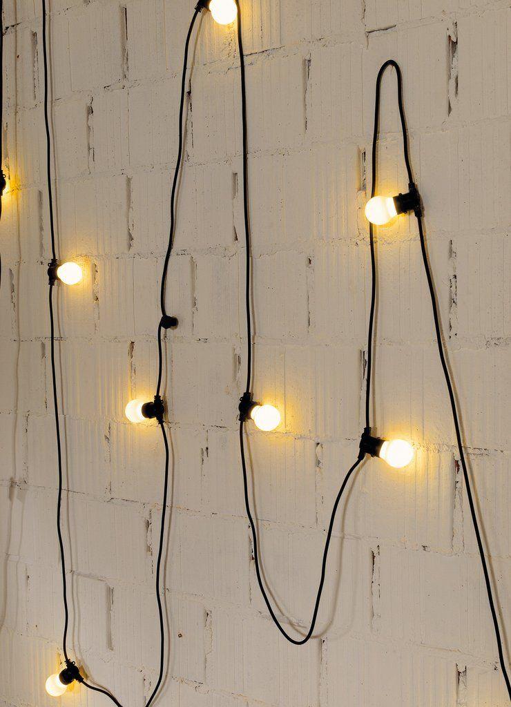 Bella Vista Set Of 10 Garden Lights In Black Design By Seletti