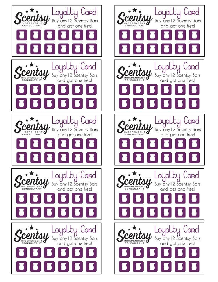 Scentsy Loyalty Card Scentsy Scentsy Business Selling Scentsy